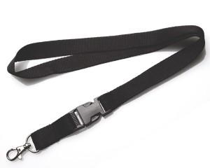 Schlüsselband 20 mm schwarz mit KSV