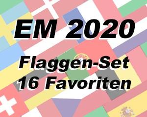 Flaggen Set 16 Fußball EM 2020
