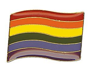 Pin: Rainbow Flag (geschwungen), 24 mm