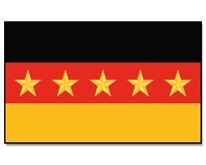 Flagge Deutschland 5 Sterne