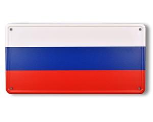 Blechschild Russland