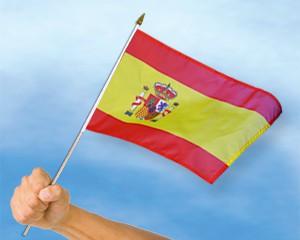 Stock-Flagge Spanien