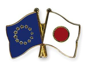 Freundschaftspins Europa-Japan